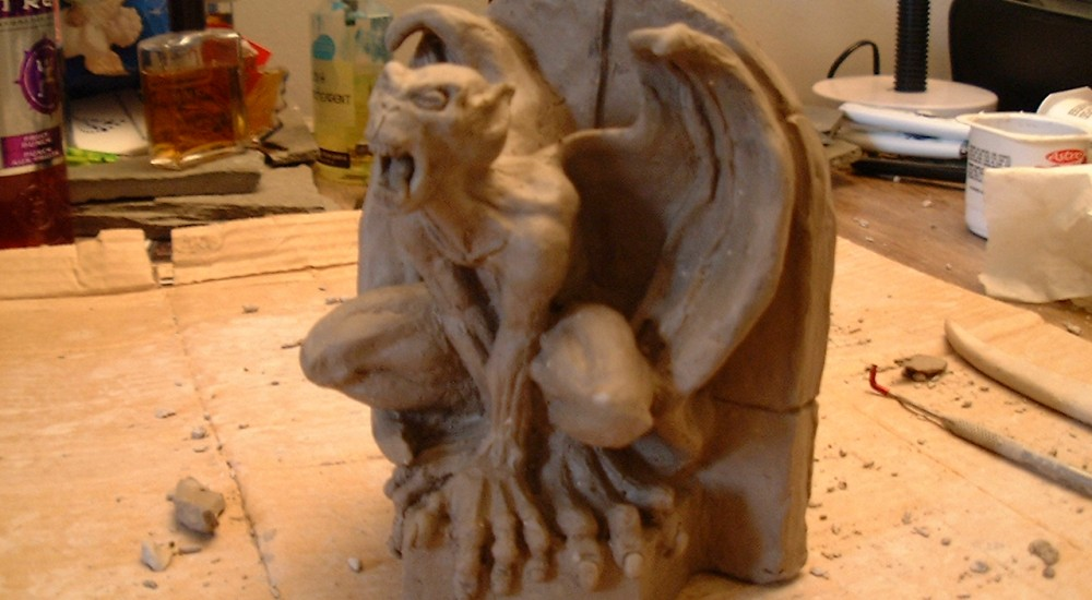Gargoyle Bookend Sculpture